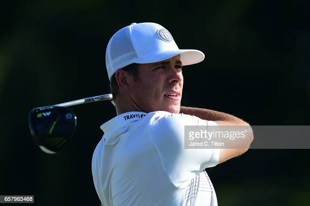 Luke List plays his tee shot on the first hole during the final round of the Puerto Rico Open at Coco Beach on March 26 2017 in Rio Grande Puerto Rico
