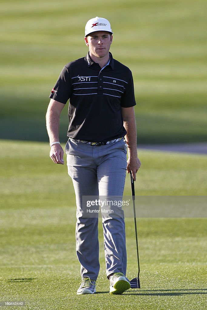 Luke List walks down the fairway on the ninth hole during the first round of the Waste Management Phoenix Open at TPC Scottsdale on January 31, 2013 in Scottsdale, Arizona.