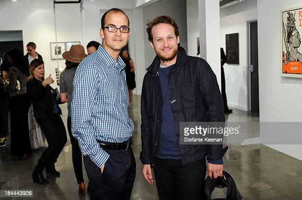 Luke Lizalde and Aaron Sandnes attend The Mistake Room's Benefit Auction on October 13 2013 in Los Angeles California