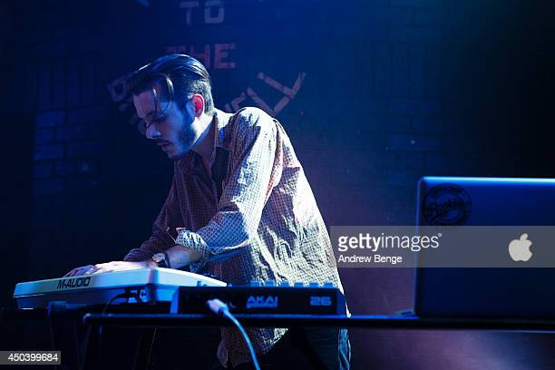 Luke Lount of GirlsOnDrugs performs on stage at Brudenell Social Club on June 10 2014 in Leeds United Kingdom