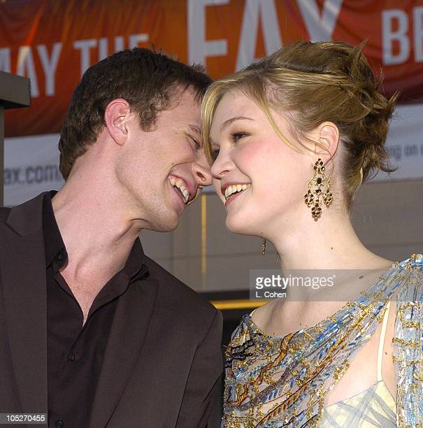 Luke Mably and Julia Stiles during 'The Prince and Me' Hollywood Premiere Red Carpet at Grauman's Chinese Theatre in Hollywood California United...