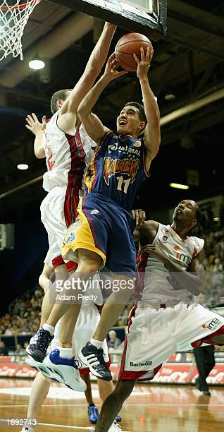 Luke Martin of the Razorbacks in action during the NBL Basketball game between the West Sydney Razorbacks and the Wollongong Wolves at the State...