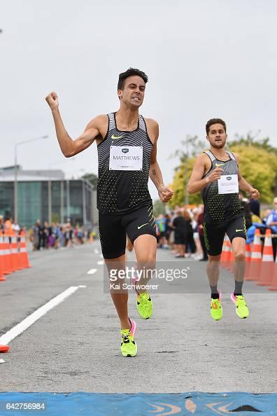 Luke Mathews of Australia celebrates winning the Elite Men's 1000 metres final during The Big Shot and Fast K at Retro Sports Facility on February 19...