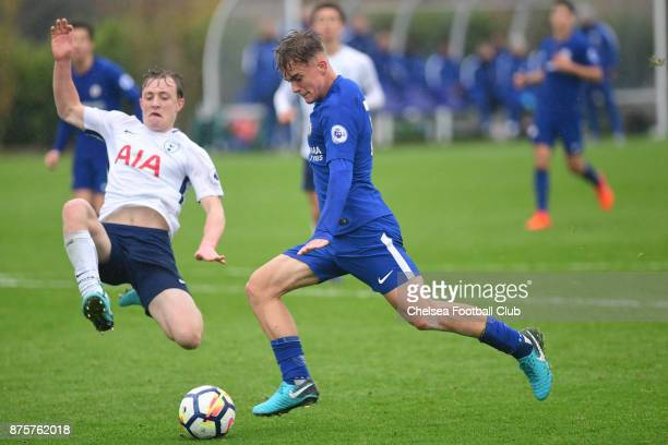Luke McCormick of Chelsea during the Premier league 2 match between Tottenham Hotspur and Chelsea on November 18 2017 in Enfield England