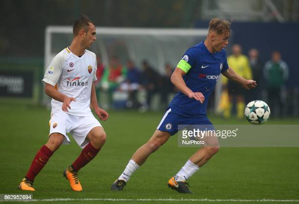 Luke McCormick of Chelsea Under 19s during UEFA Youth League match between Chelsea Under 19s against AS Roma Under 19s at Cobham Training Ground...