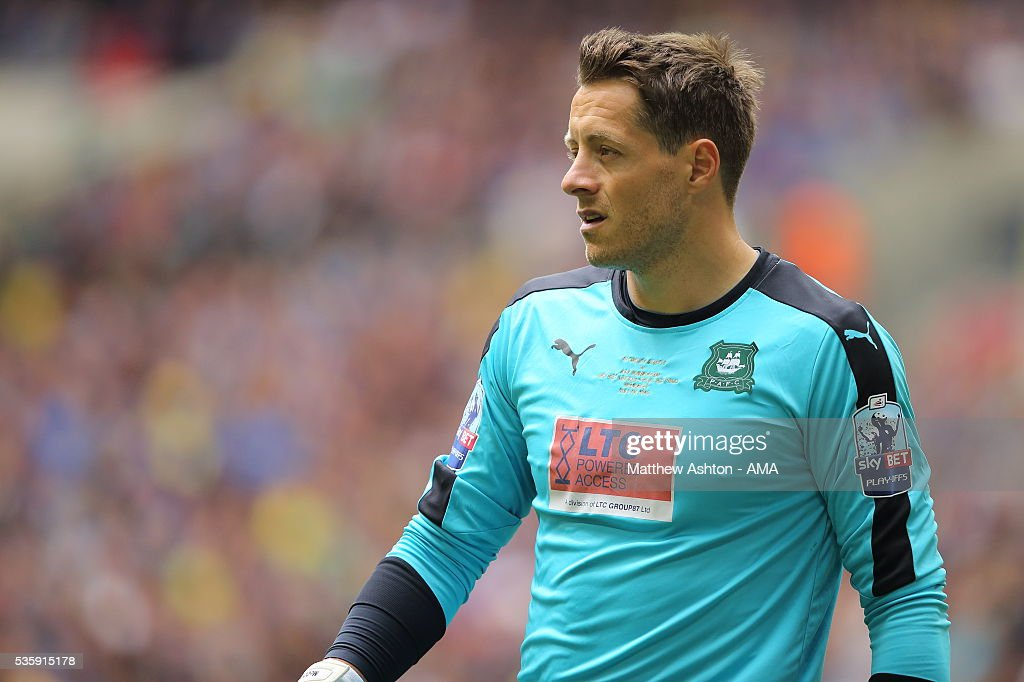 Luke McCormick of Plymouth Argyle during the Sky Bet League Two Play Off Final between Plymouth Argyle and AFC Wimbledon at Wembley Stadium on May 30, 2016 in London, England.