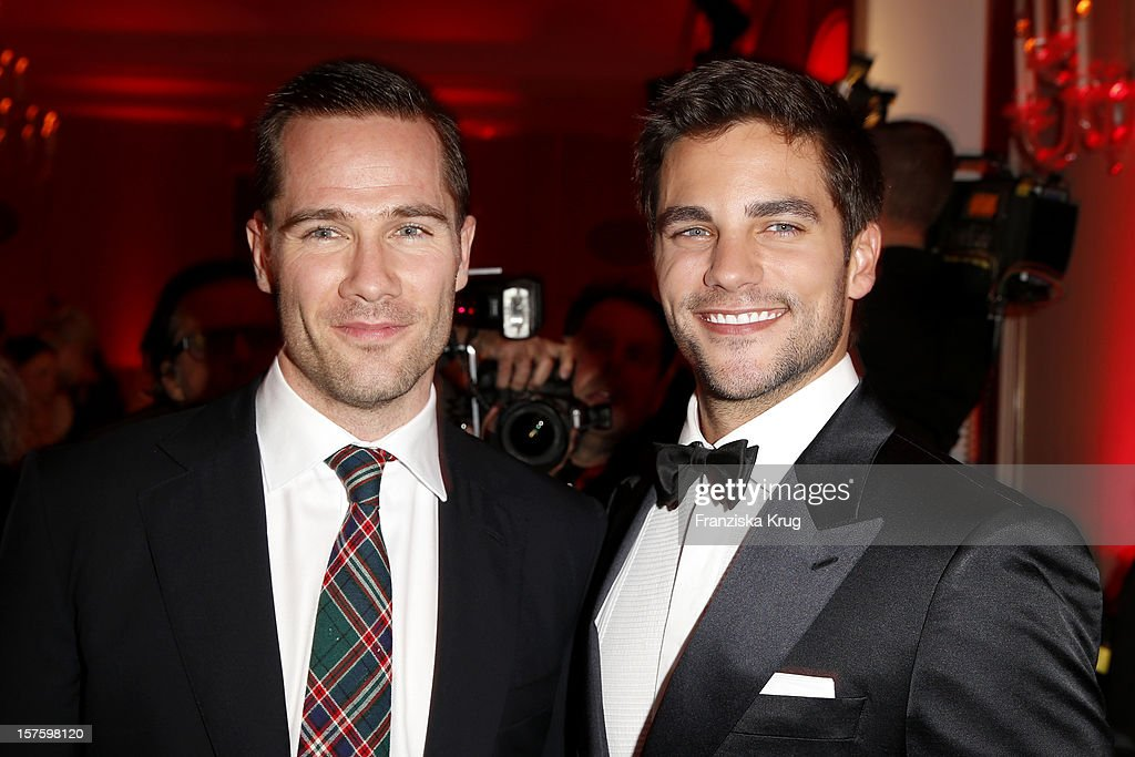 Luke Mcfarlane and Brant Daugherty attend the Barbara Tag 2012 on December 04, 2012 in Munich, Germany.