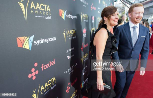 Luke McGregor and Celia Pacquola during the 7th AACTA Awards at The Star on December 6 2017 in Sydney Australia