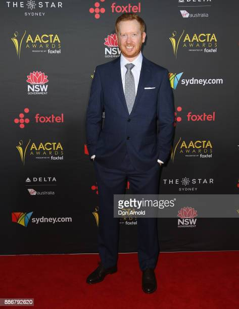 Luke McGregor poses during the 7th AACTA Awards at The Star on December 6 2017 in Sydney Australia