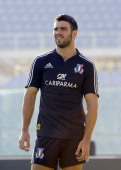 Luke McLean during Italy Captain's Run at Artemio Franchi on November 23 2012 in Florence Italy