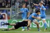 Luke McLean of Italy during the international test match between Italy v New Zealand at Stadio Olimpico on November 17 2012 in Rome Italy