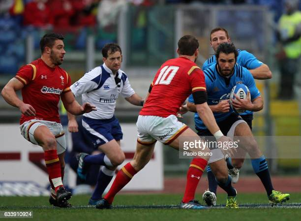 Luke Mclean of Italy in action during the RBS Six Nations match between Italy and Wales at Stadio Olimpico on February 5 2017 in Rome Italy