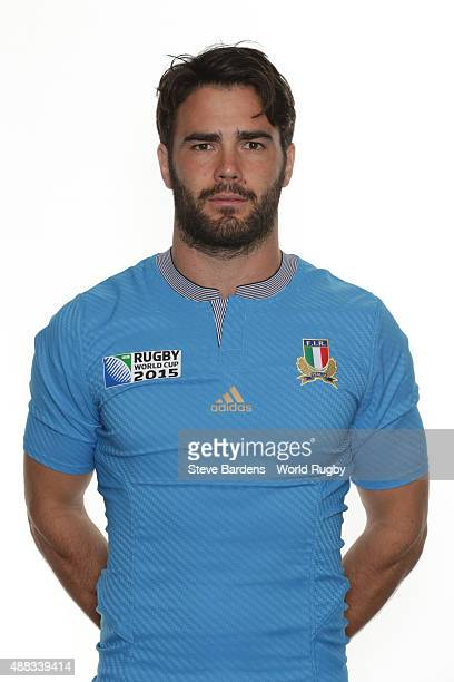 Luke McLean of Italy poses during the Italy Rugby World Cup 2015 squad photo call at the Radisson Blu on September 15 2015 in Guildford England