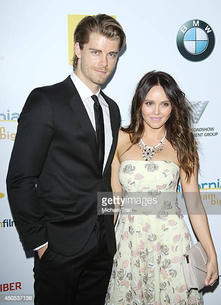 Luke Mitchell and Rebecca Breeds arrive at Australians In Film's 6th Annual Heath Ledger Scholarship dinner held at SLS Hotel at Beverly Hills on...