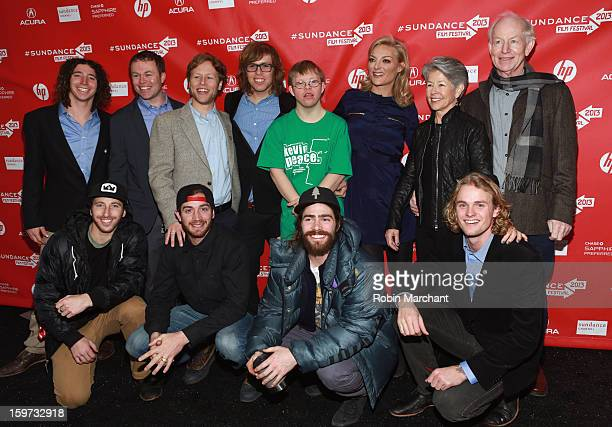 Luke Mitrani Kevin Pearce brother David Pearce director Lucy Walker and Jack Mitrani Scotty Lago Danny Davis and Mikkel Bang attend 'The Crash Reel'...