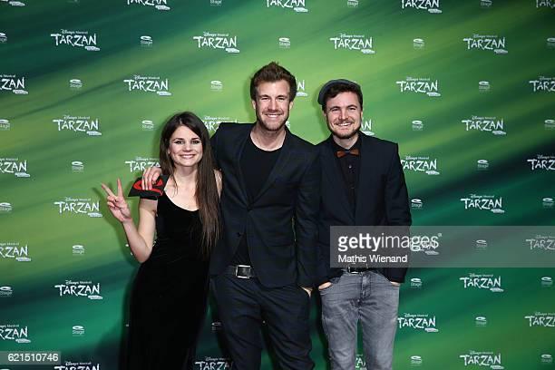 Luke Mockridge Joyce Ilg Philipp Laude alisa Phil Y Titty attends 'Tarzan' Musical Premiere on November 6 2016 in Oberhausen Germany