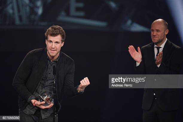 Luke Mockridge wins the 1Live Krone at Jahrhunderthalle on December 1 2016 in Bochum Germany