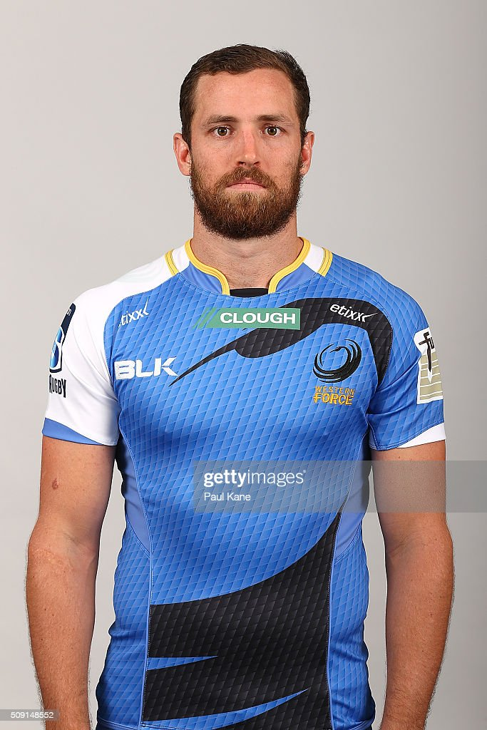 Luke Morahan poses during the Western Force 2016 Super Rugby headshots session on February 9, 2016 in Perth, Australia.