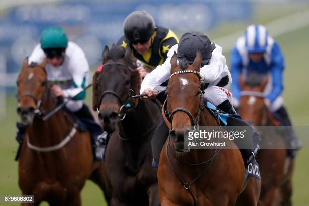 Luke Morris riding Marsha win The Longholes Palace House Stakes at Newmarket Racecourse on May 6 2017 in Newmarket England
