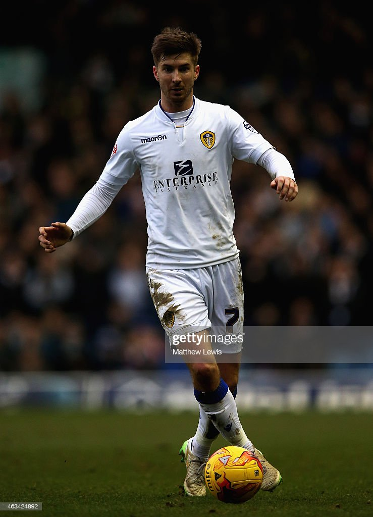 Luke Murphy of Leeds United in action during the Sky Bet Championship match between Leeds United and Millwall at Elland Road on February 14, 2015 in Leeds, England.