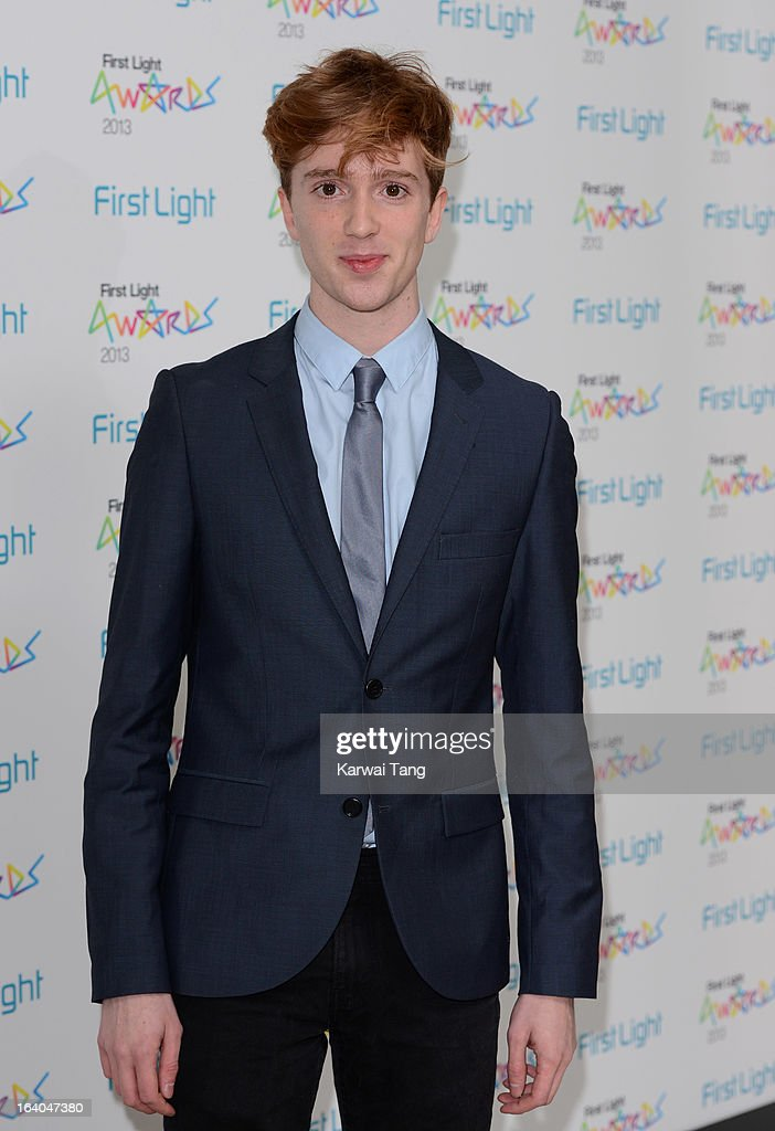 Luke Newberry attends the First Light Awards at Odeon Leicester Square on March 19, 2013 in London, England.