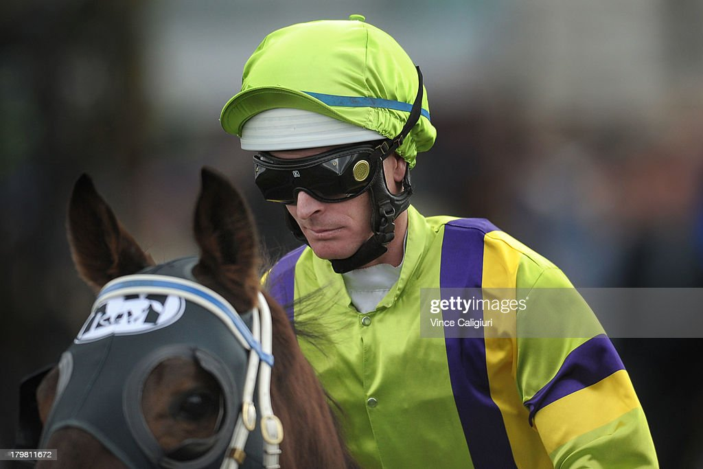 <a gi-track='captionPersonalityLinkClicked' href=/galleries/search?phrase=Luke+Nolen&family=editorial&specificpeople=2190756 ng-click='$event.stopPropagation()'>Luke Nolen</a> during Melbourne racing at Flemington Racecourse on September 7, 2013 in Melbourne, Australia.