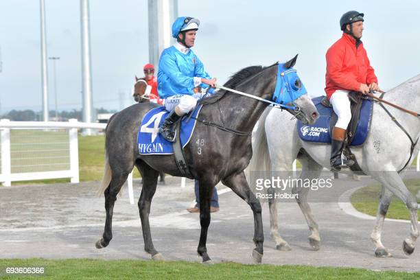 Luke Nolen returns to the mounting yard on Solar Coaster after winning the XXXX Gold Maiden Plate at Racingcom Park Synthetic Racecourse on June 08...