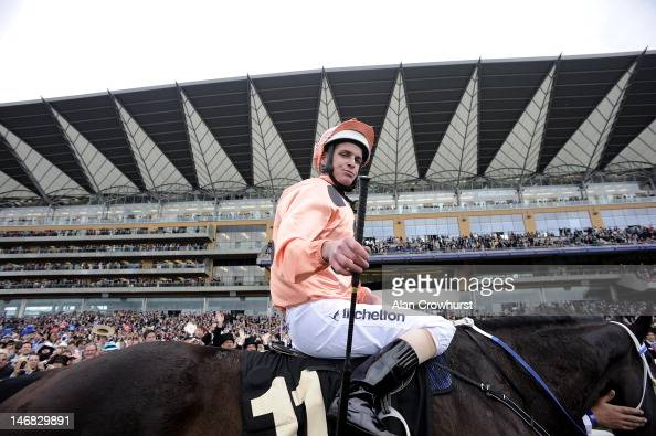 Luke Nolen riding Black Caviar after winning the Diamond Jubilee Stakes during day 5 of Royal Ascot at Ascot racecourse on June 23 2012 in Ascot...