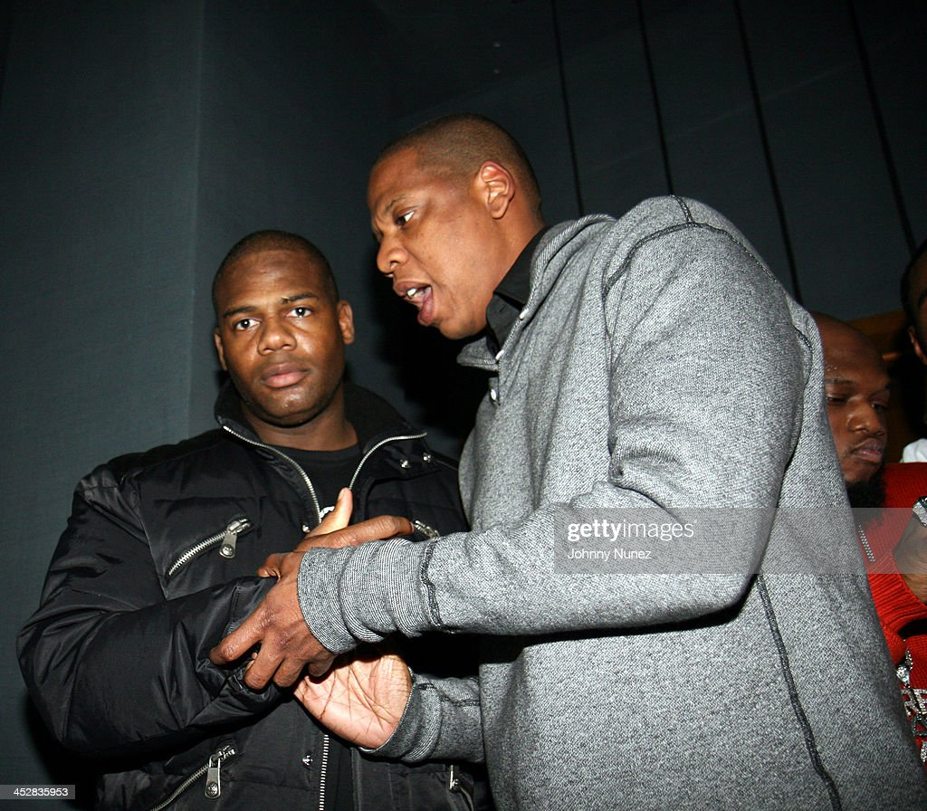 Luke of Rich and Famous and <a gi-track='captionPersonalityLinkClicked' href=/galleries/search?phrase=Jay-Z&family=editorial&specificpeople=201664 ng-click='$event.stopPropagation()'>Jay-Z</a> during Beanie Sigel's Birthday Party - March 6, 2007 at 40-40 Club in New York City, New York, United States.