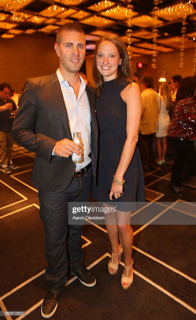Luke Ostrom and Jacque Burke attend the Chicken Coupe Dinner at W South Beach Hotel & Residences on February 23, 2013 in Miami Beach, Florida.