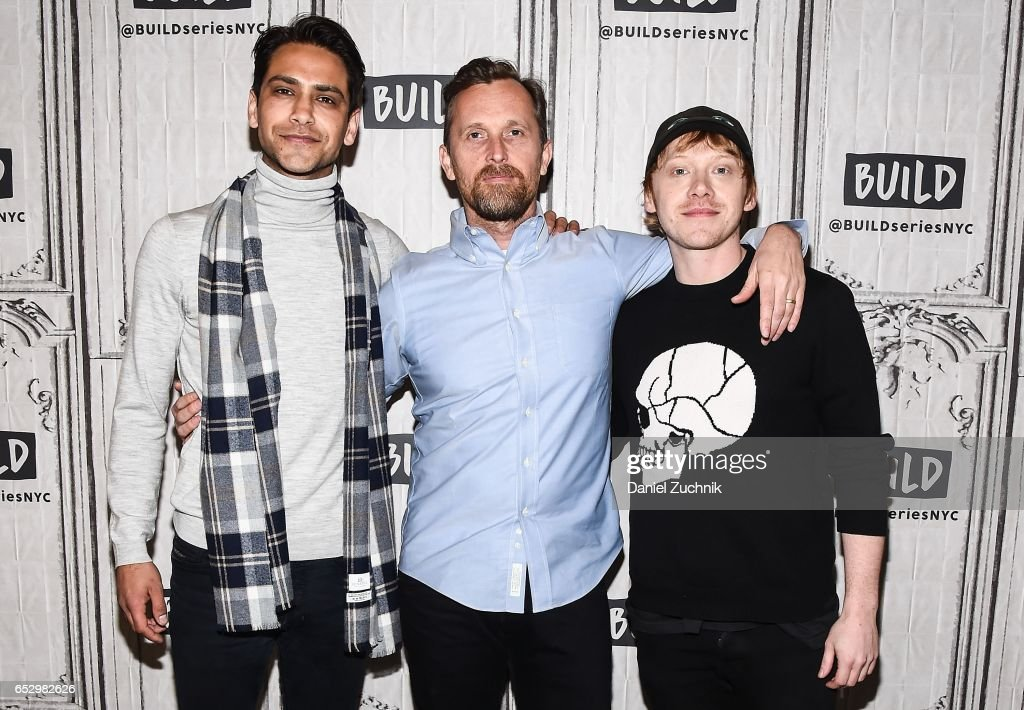 Luke Pasqualino, Alex De Rakoff and Rupert Grint attend the Build Series to discuss the new show 'Snatch' at Build Studio on March 13, 2017 in New York City.