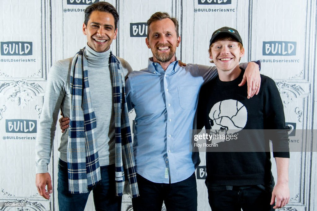 Luke Pasqualino, Alex De Rakoff and Rupert Grint discuss 'Snatch' with the Build Series at Build Studio on March 13, 2017 in New York City.