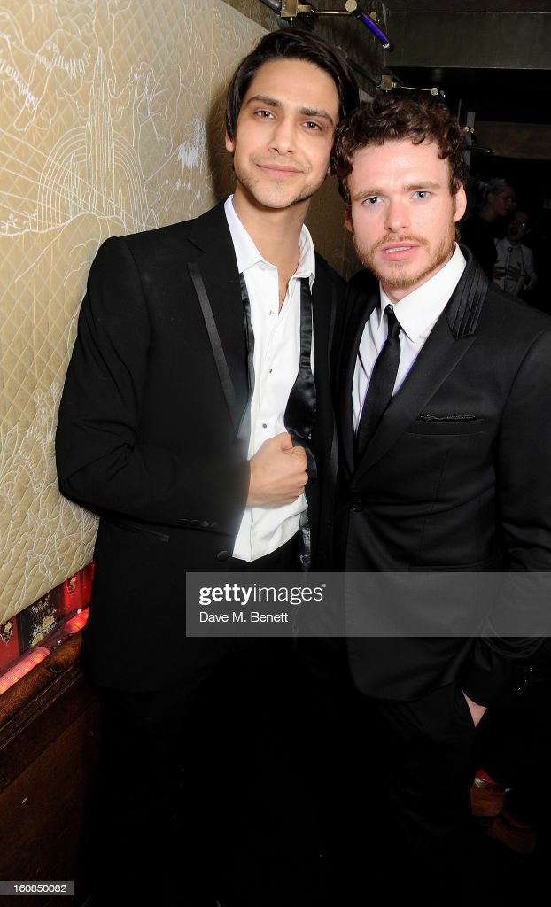 Luke Pasqualino (L) and <a gi-track='captionPersonalityLinkClicked' href=/galleries/search?phrase=Richard+Madden&family=editorial&specificpeople=8954998 ng-click='$event.stopPropagation()'>Richard Madden</a> attend the 2nd Anniversary of The Box with Belvedere Vodka on February 6, 2013 in London, England.