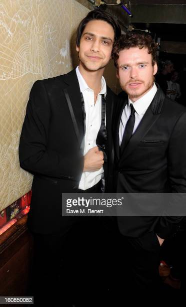 Luke Pasqualino and Richard Madden attend the 2nd Anniversary of The Box with Belvedere Vodka on February 6 2013 in London England