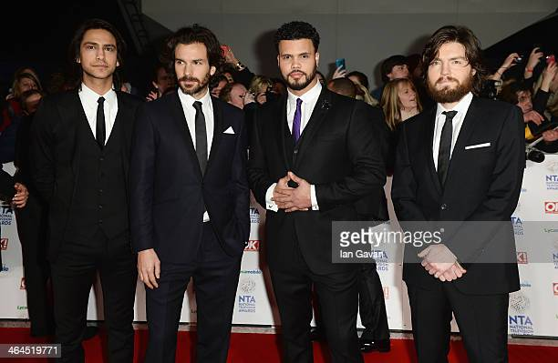 Luke Pasqualino Santiago Cabrera Howard Charles and Tom Burke attend the National Television Awards at 02 Arena on January 22 2014 in London England