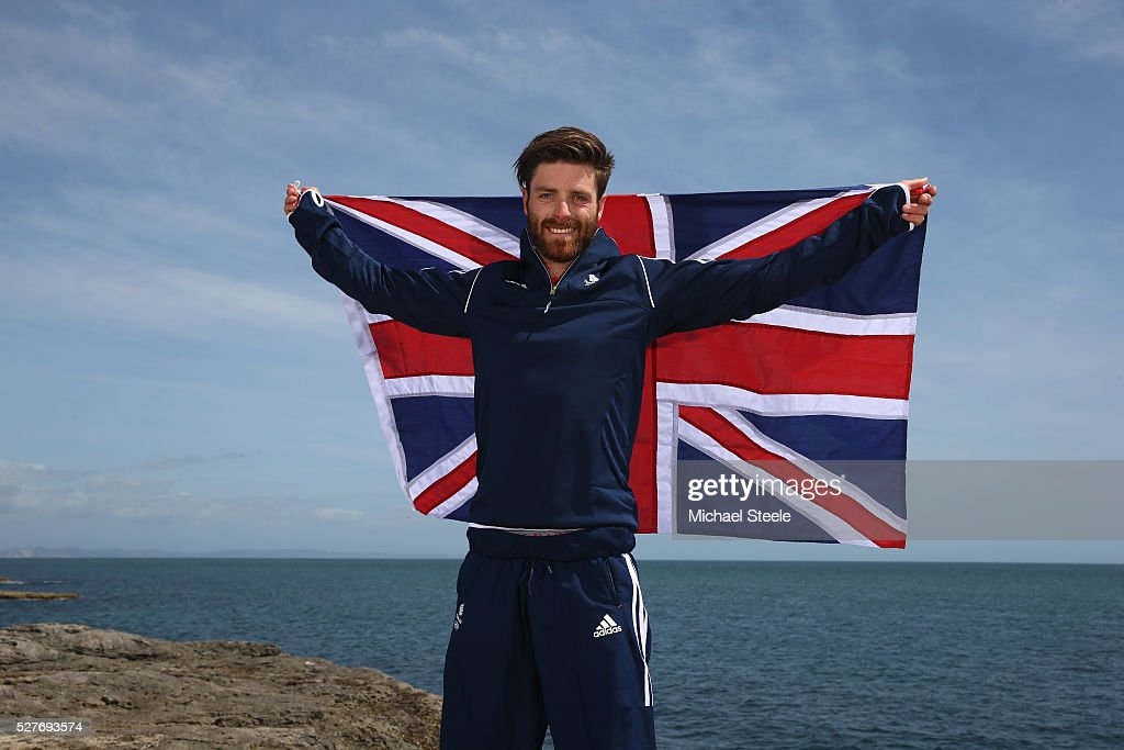 <a gi-track='captionPersonalityLinkClicked' href=/galleries/search?phrase=Luke+Patience&family=editorial&specificpeople=7024675 ng-click='$event.stopPropagation()'>Luke Patience</a> of the 470 Men's Class and Team GB poses during a Team GB Sailing Announcement for the Rio 2016 Olympic Games at Portland Bill on May 3, 2016 in Weymouth, England.