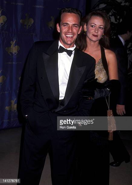 Luke Perry and Minnie Sharp at the 1996 Carousel of Hope Ball Beverly Hilton Hotel Beverly Hills