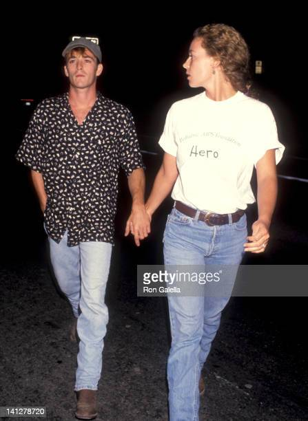 Luke Perry and Minnie Sharp at the Screening of HBO's Original Movie 'And the Band Played On' Academy Theatre Beverly Hills