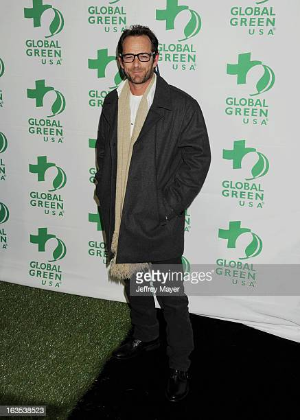 Luke Perry arrives at Global Green USA's 10th Annual PreOscar party at Avalon on February 20 2013 in Hollywood California