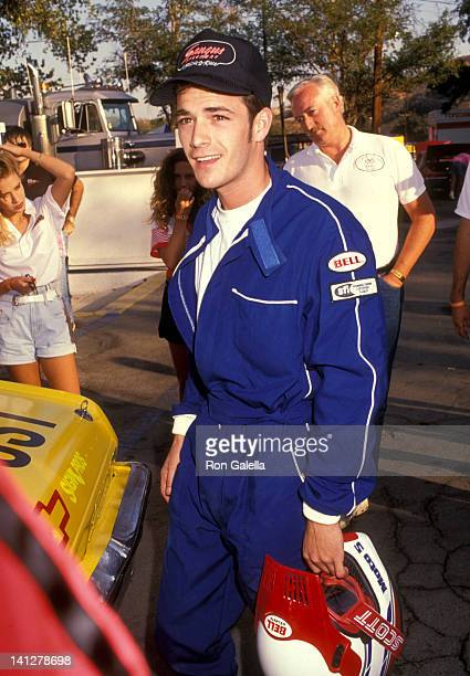 Luke Perry at the 3rd Annual Reid Rondell Association Celebrity Enduro Race Saugus Speedway Saugus
