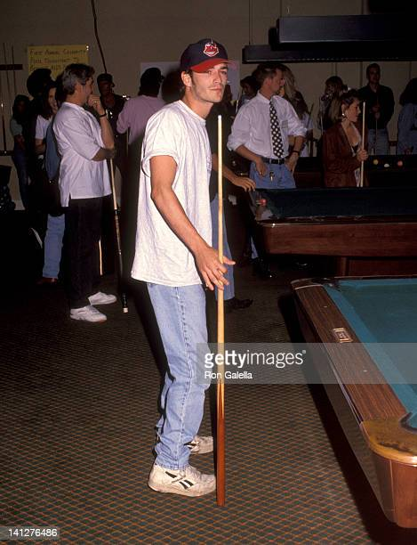 Luke Perry at the First Annual Celebrity Pool Tournament to Benefit AIDS Project Los Angeles Hollywood Athletic Club Hollywood