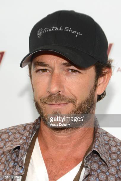 Luke Perry attends a screening of Integrity Film Production's 'Red Wing' at Harmony Gold Theatre on August 6 2013 in Los Angeles California