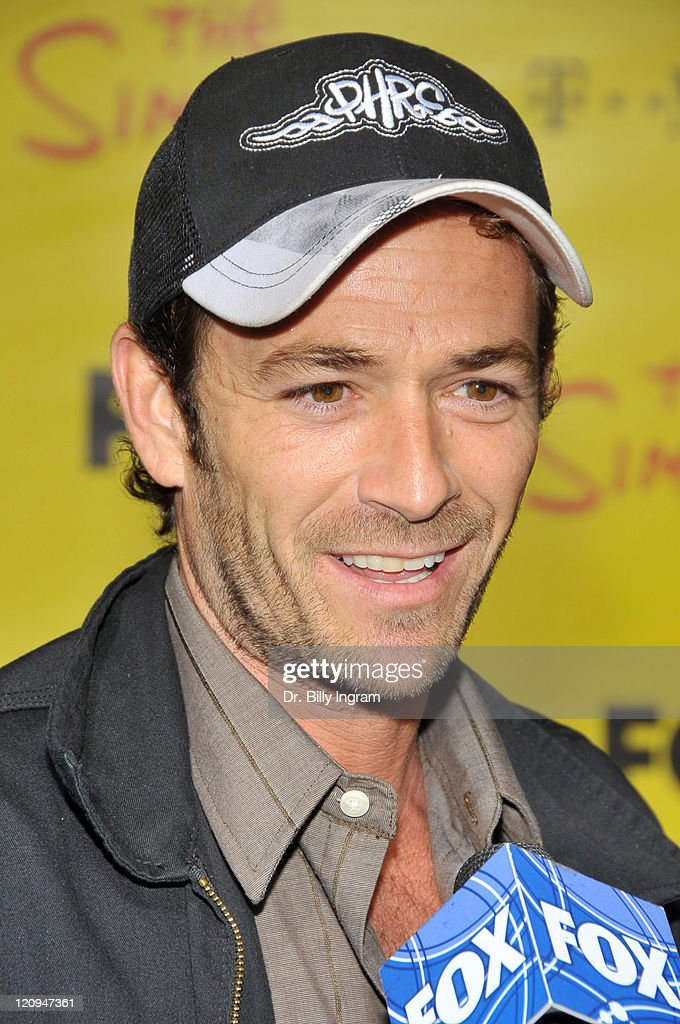 Luke Perry attends The Simpsons Treehouse Of Horror XX And 20th Anniversary Party on October 18, 2009 in Santa Monica, California.