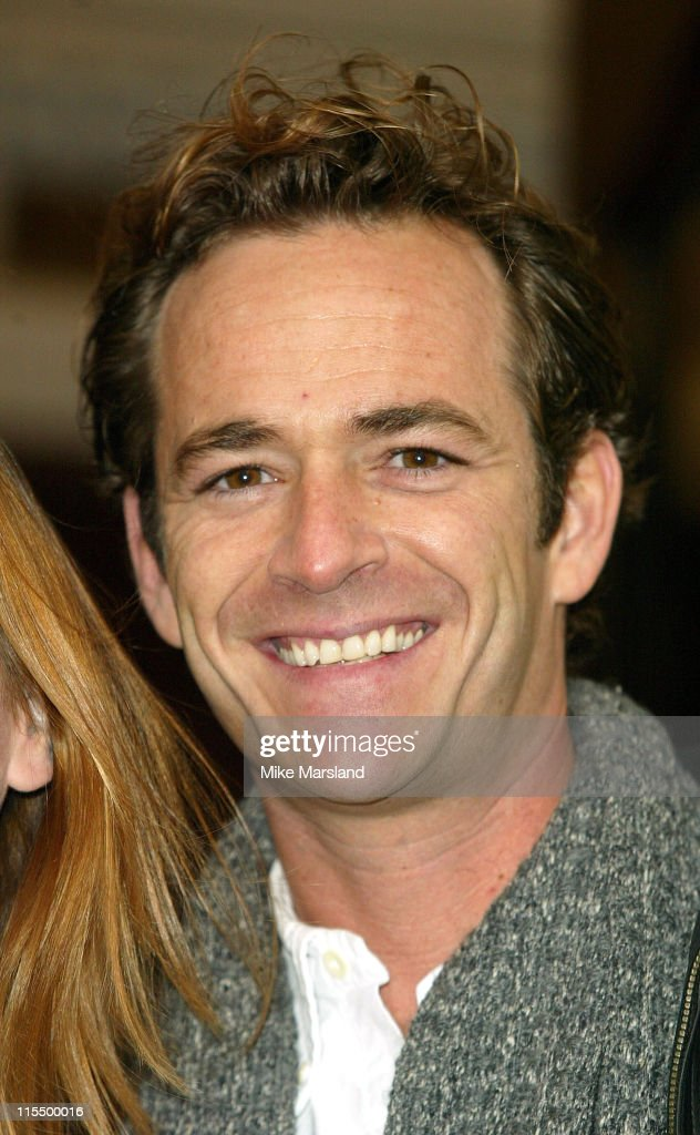 <a gi-track='captionPersonalityLinkClicked' href=/galleries/search?phrase=Luke+Perry&family=editorial&specificpeople=171633 ng-click='$event.stopPropagation()'>Luke Perry</a> during Photocall For The New West End Production Of 'When Harry Met Sally' at The Theatre Royal, Haymarket in London, Great Britain.