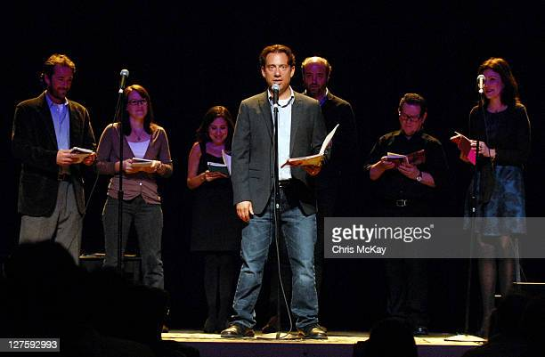 Luke Perry Lucy Devito Eugene Pack Scott Adsit Tim Kazurinsky and Laura Kightlinger perform for Celebrity Autobiography at Buckhead Theatre on...