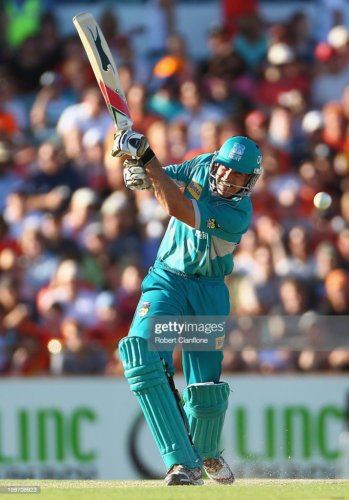 Luke Pomersbach of the Heat bats during the Big Bash League final match between the Perth Scorchers and the Brisbane Heat at the WACA on January 19, 2013 in Perth, Australia.