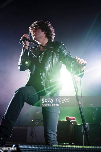 Luke Pritchard of The Kooks performs a sold out show on stage at The Ritz Manchester on May 7 2014 in Manchester United Kingdom