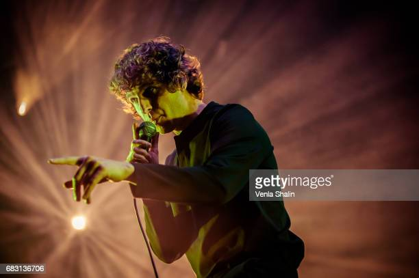 Luke Pritchard of The Kooks performs at Alexandra Palace on May 13 2017 in London England