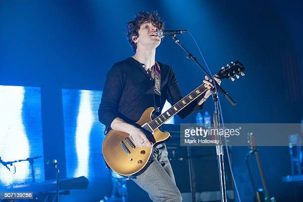 Luke Pritchard of The Kooks performs on stage at O2 Southampton Guildhall on January 27 2016 in Southampton England