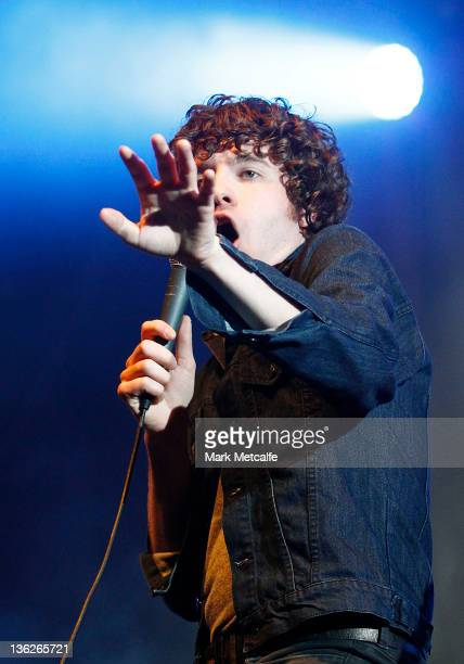 Luke Pritchard of The Kooks performs on stage on day two of the Falls Music Festival on December 30 2011 in Lorne Australia